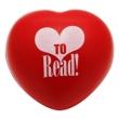 Teacher Peach's Love to Read Heart-shaped Stress Ball