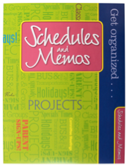 Schedules and Memos Teacher Peach Pocket Folder