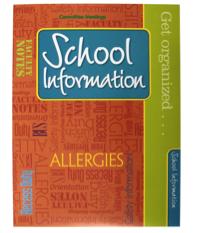 School Information Teacher Peach Pocket Folder