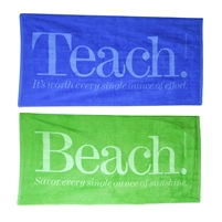 Teacher Peach's Teach/Beach Towels