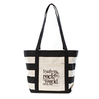 Teacher Peach's Teachers Rock the World Tote Bag