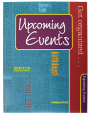 Upcoming Events Teacher Peach Pocket Folder