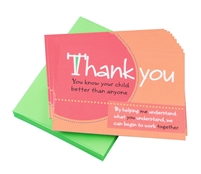 Teacher Peach Thank You Cards