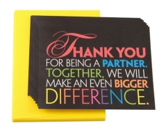 Teacher Peach Partner Thank You Cards