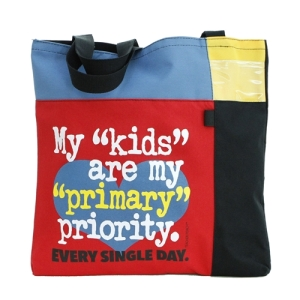 Teacher Peach Primary Priority Tote