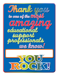 You Rock Educational Support Professionals