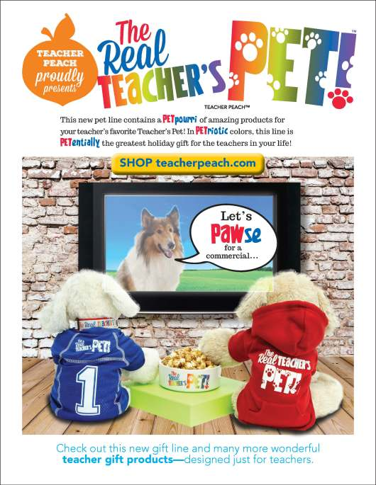 Real Teacher's Pet Products Teacher Peach