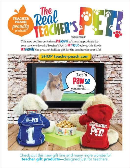 Real Teacher's Pet Products Teacher Peach