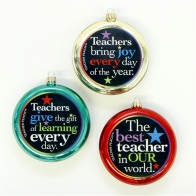 Teacher Peach Ornaments