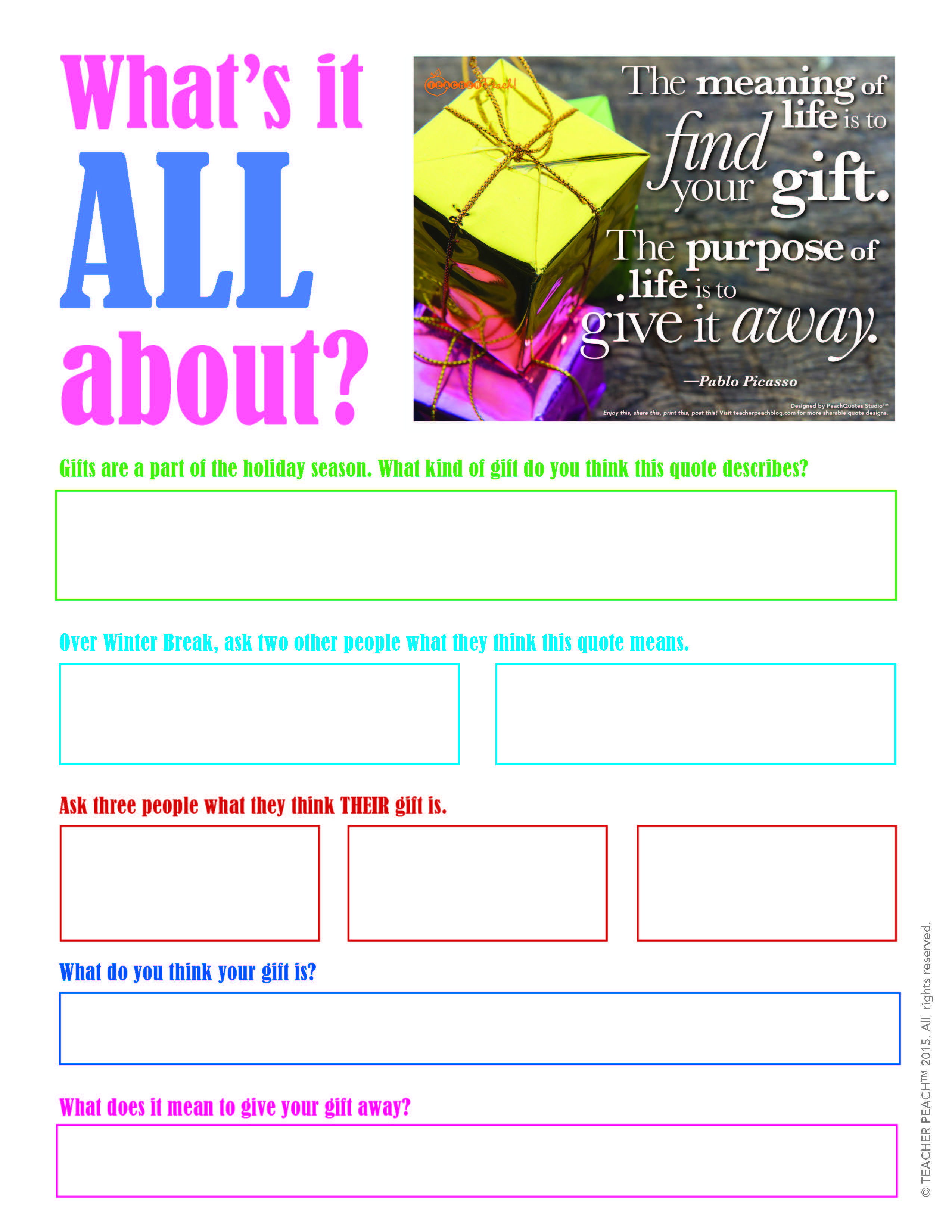 Worksheets – Reach for the Peach