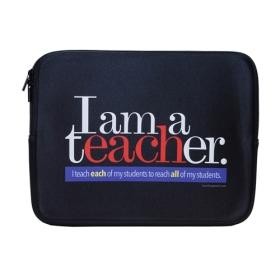 Each and All Teacher Peach Laptop Case