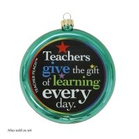 Teacher Peach Ornament