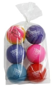 Teacher Peach Stress Ball Six Pack