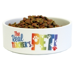 Teacher's Pet Ceramic Cat Bowl