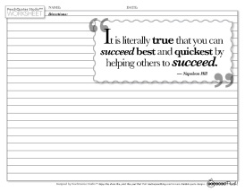 TP PQS Napoleon Hill Succeed Quote
