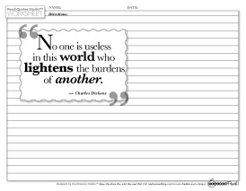TP PQS Dickens Quote No One Is Useless
