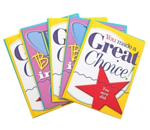 You Made a Great Choice Cards