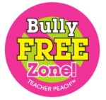 Teacher Peach Sticker Treats Bully Free Zone