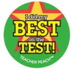 Teacher Peach Sticker Treats Did My Best