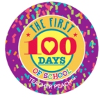 Teacher Peach Sticker Treats First 100 Days