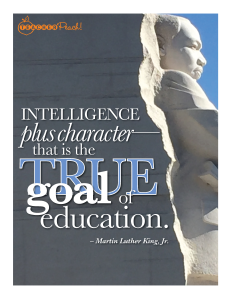 TP PQS Intelligence True Goal Education MLK